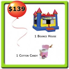 1 Bounce House Rental and 1 Foot Machine Rental