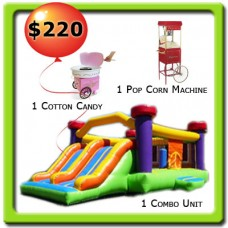 1 Combo Bounce House - 2 Food Machines