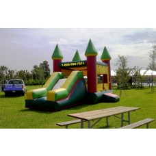 3 in 1 Inflatable Castle High Slide