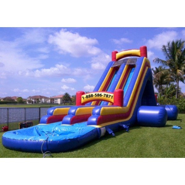 Inflatable Water Slide To Rent: Big Double Water Slide