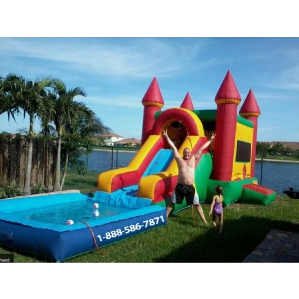Castle Water Slide Pool Rentals