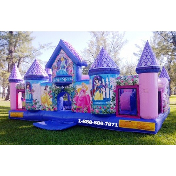 Inflatable Princess Palace Bounce House Rentals Miami