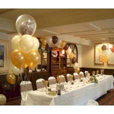 Party Rental Brown Balloon Decoration