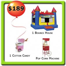 1 Bounce House - 2 Food Machines