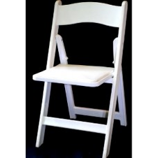 Resin White Folding Chairs Rental