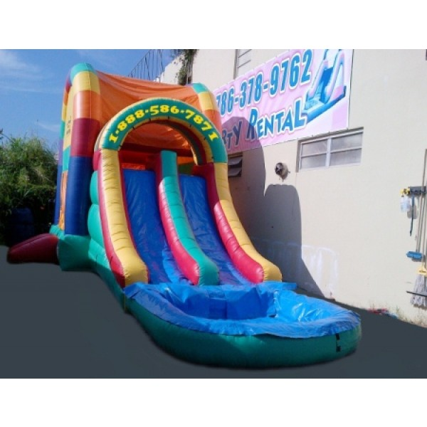 Inflatable Water Slide To Rent: Rainbow Bounce House Rentals